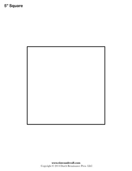 7 Images of Printable 5 Square