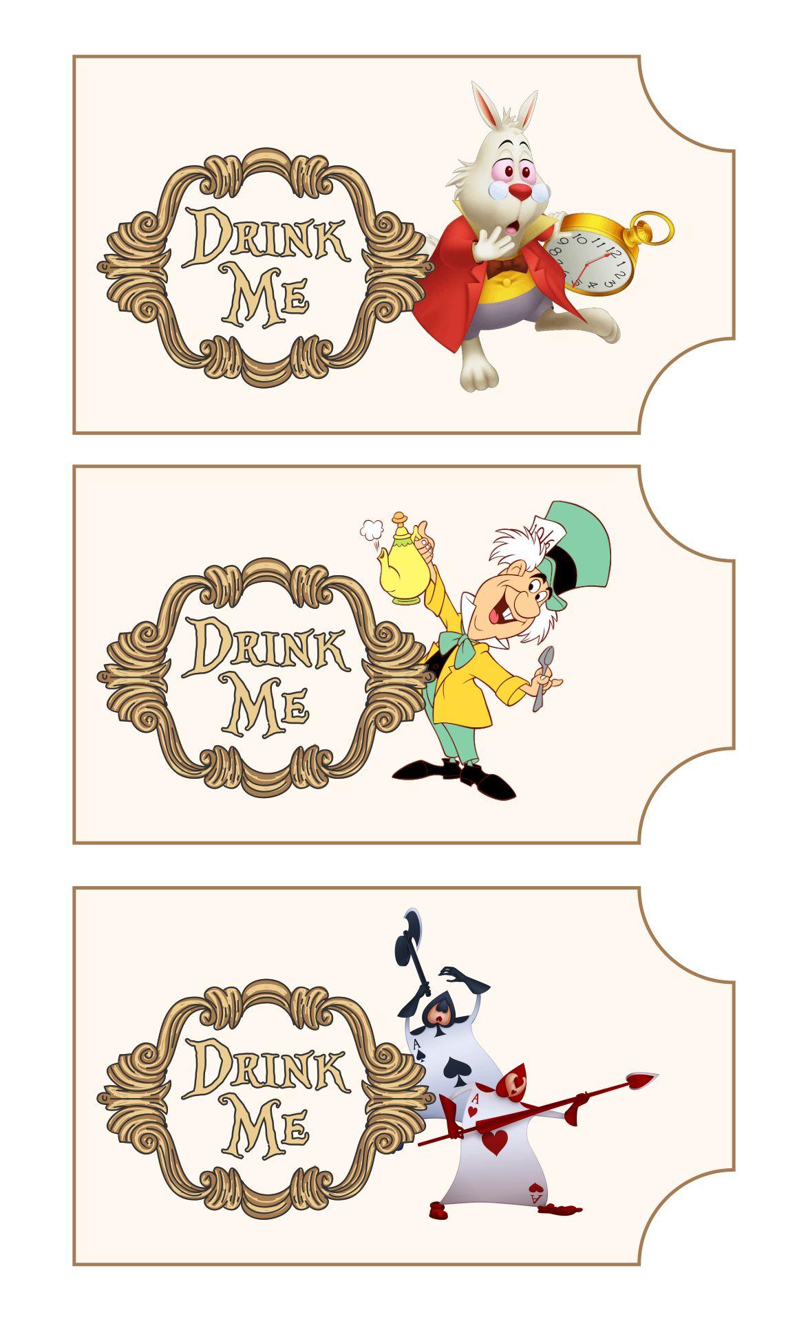Alice in Wonderland Drink Me Template Free