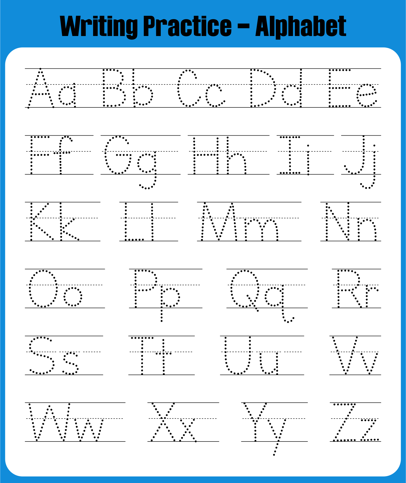 8 Best Images of Printable Traceable Alphabet Worksheets ...