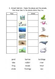 4 Images of Worksheets Animal Habitats Printable