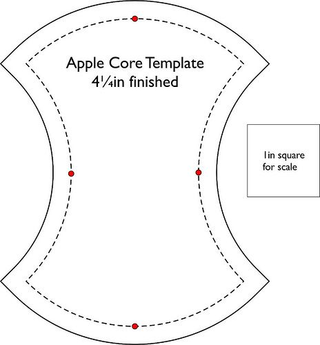5 Images of Apple Core Template Printable