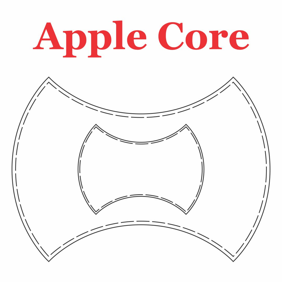 Apple Core Quilt Template Pattern