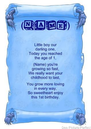 Baby Boy Poems
