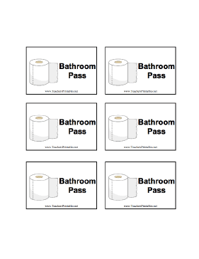 7 Images of Printable For Bathroom Passes Students
