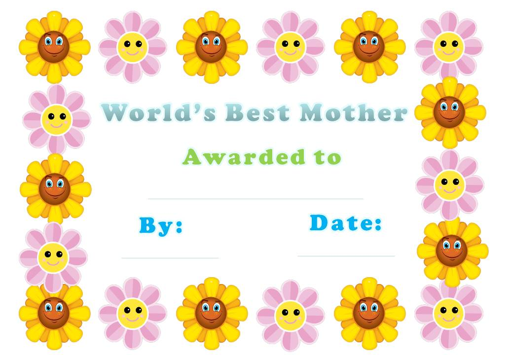 8 Images of World's Best Mom Award Printable