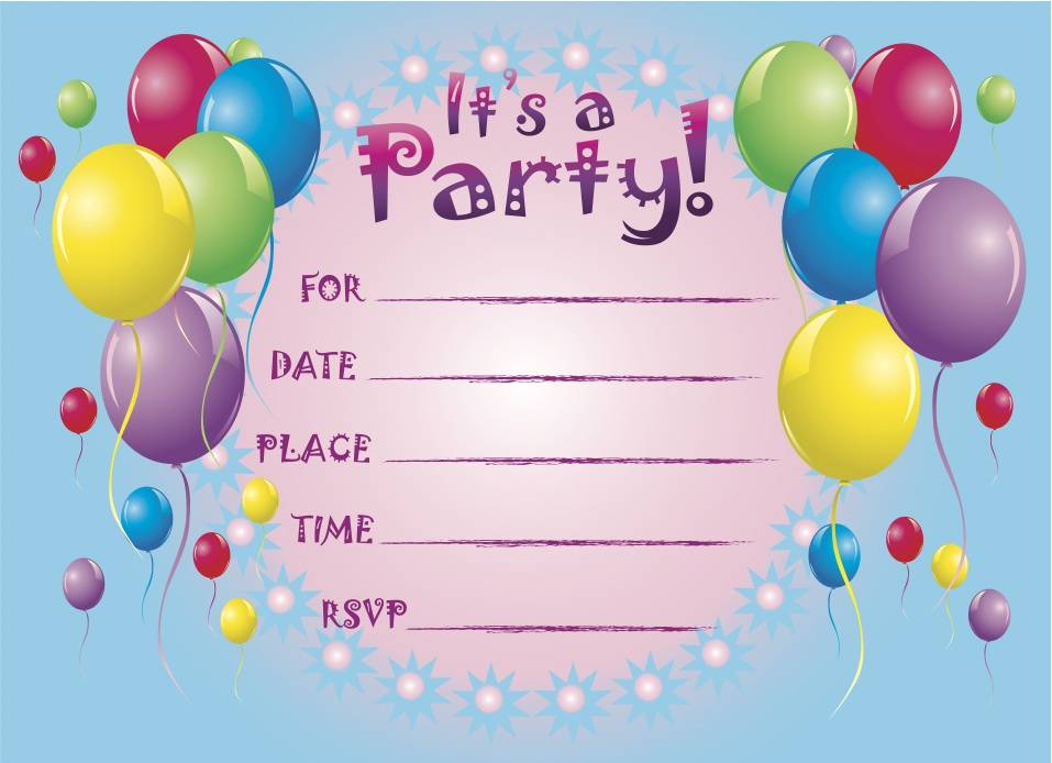 6 Images of Free Printable Kids Birthday Party Invitation