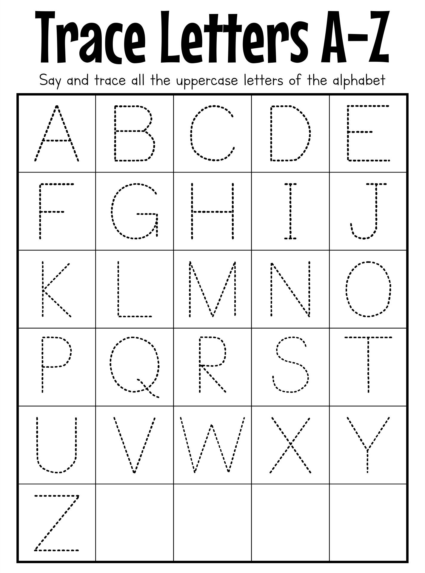 Capital Letter Tracing Worksheet