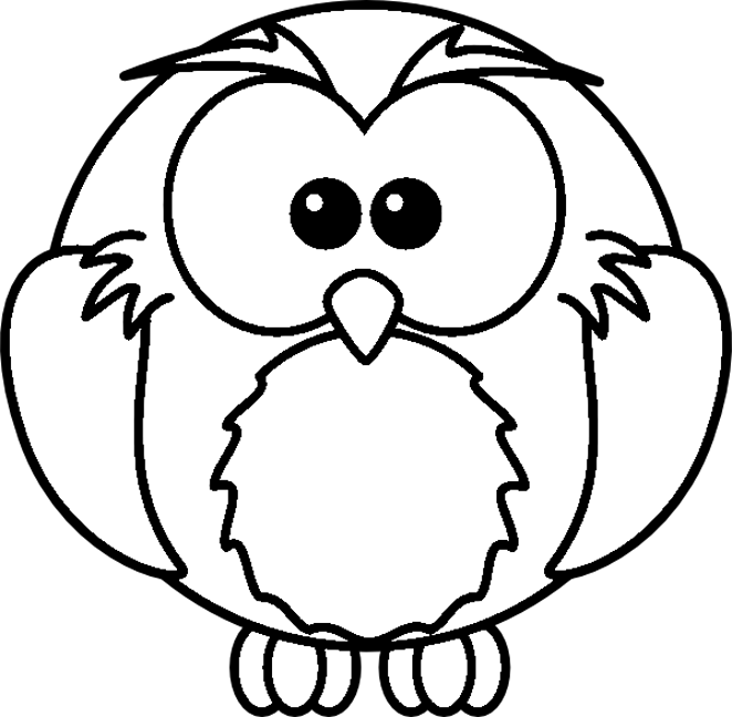 6 Images of Printable Owls To Color With Balloons
