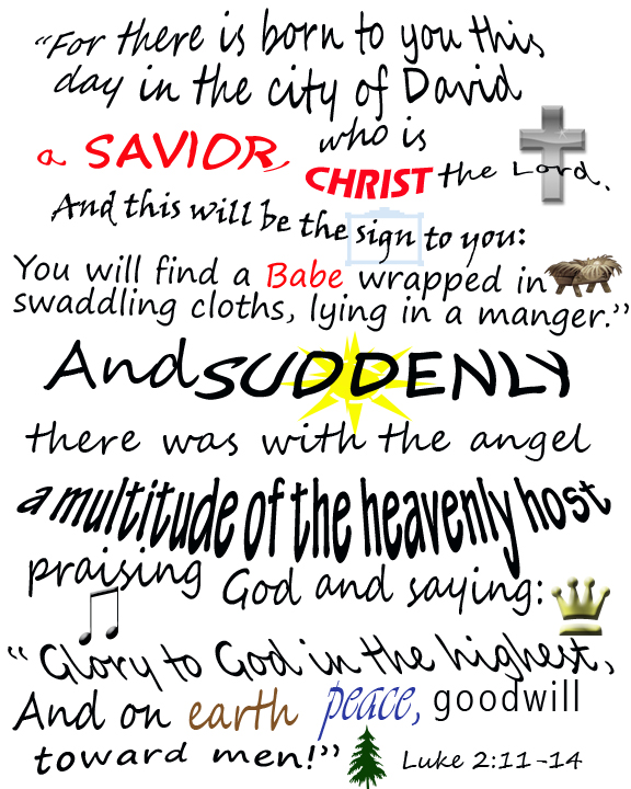6 Images of Printable Christmas Verses
