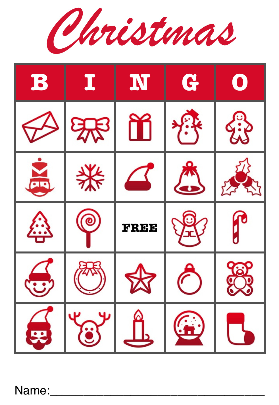 5 Images of Office Christmas Bingo Printable