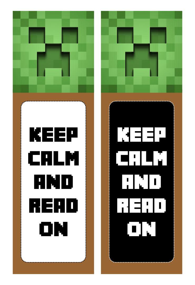 DIY Printable Minecraft Bookmarks
