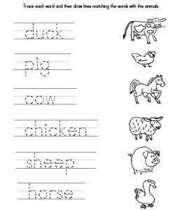 7 Images of Preschool Farmer Words Printable