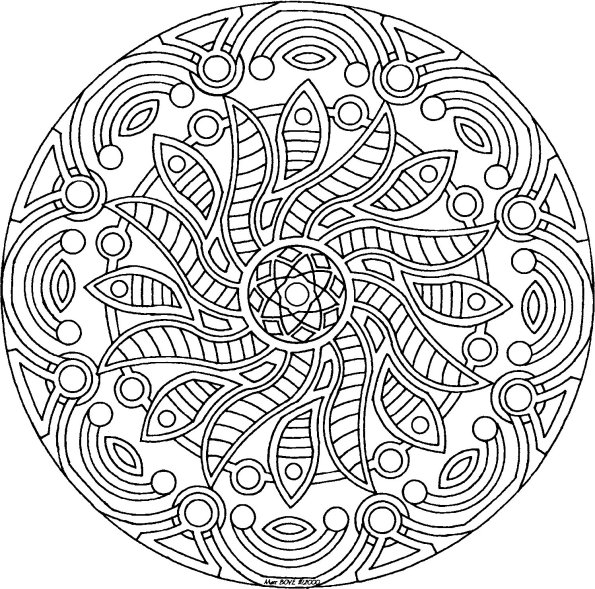 5 Images of Printable Adult Mandala Coloring Pages