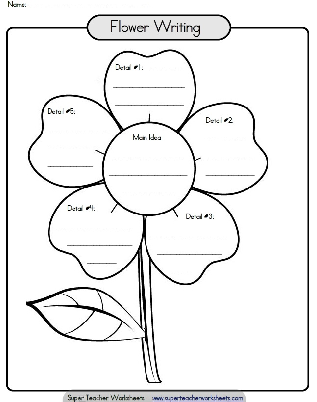 8 Best Images of Printable Flower Writing Template ...