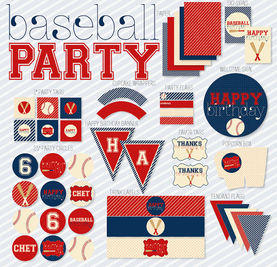 7 Images of Baseball Party Printables