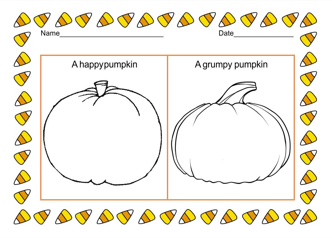 Halloween Worksheets Kindergarten