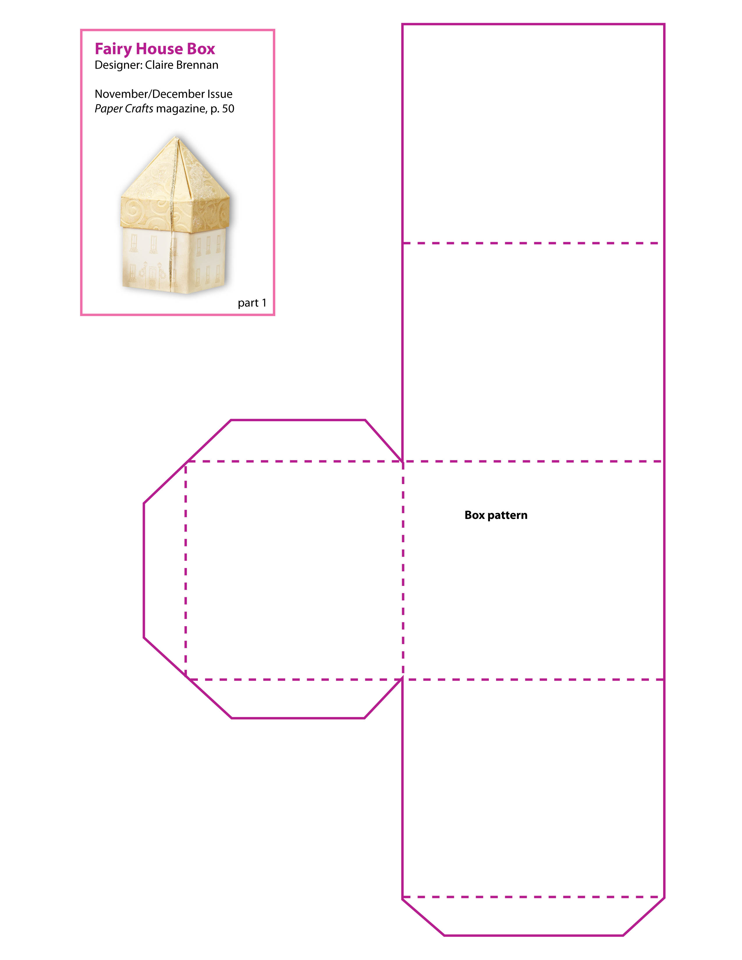 8 best images of printable paper house patterns for Paper house templates to print
