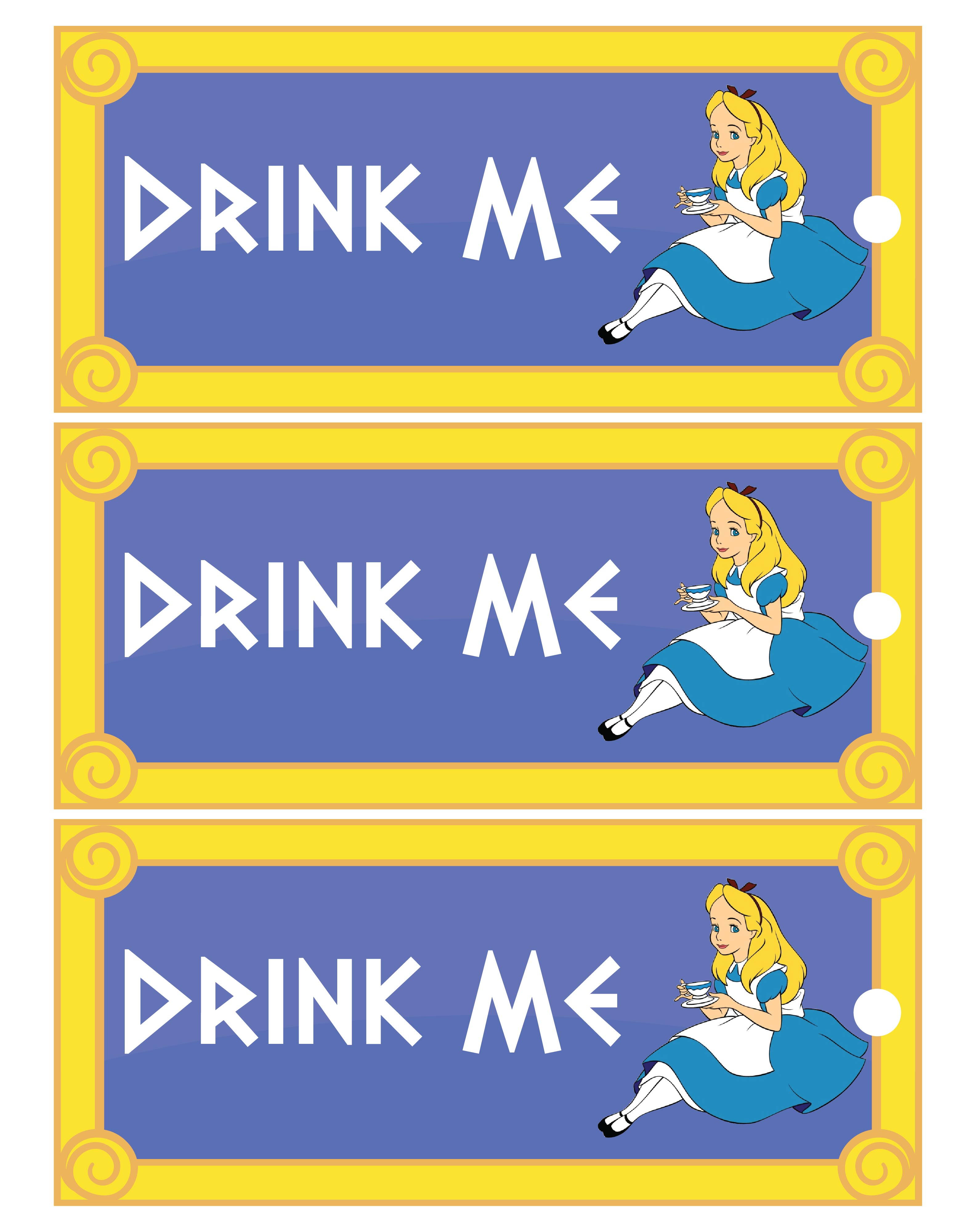 7 Images of Eat Me Drink Me Printable Templates