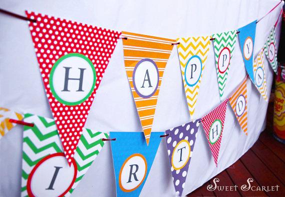 Free Printable Alphabet Bunting Banner