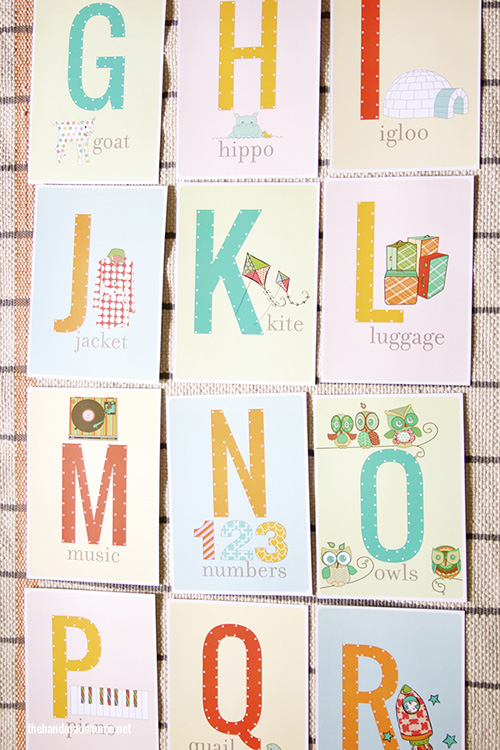7 Images of Printable Alphabet Sewing Cards