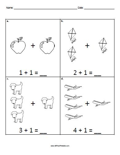 math worksheet : basic addition worksheets free  worksheets for education : Free Printable Simple Addition Worksheets