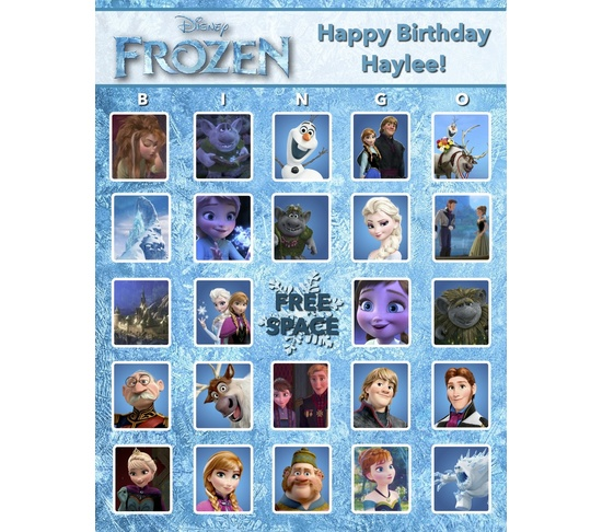 9 Images of Frozen Free Printable Bingo Game