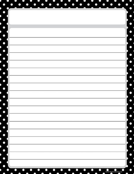 Free Printable Black Lined Paper with Borders
