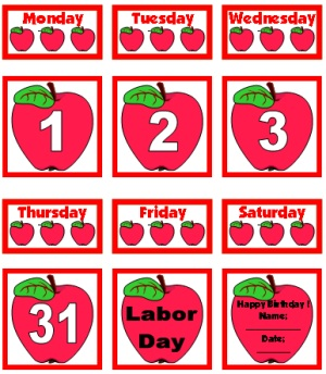 6 Images of Printable Calendar Numbers For Teachers