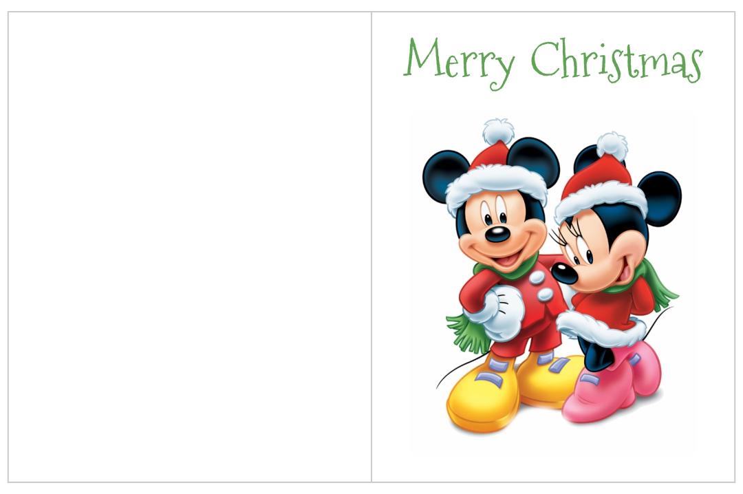 Printable Disney Christmas Cards