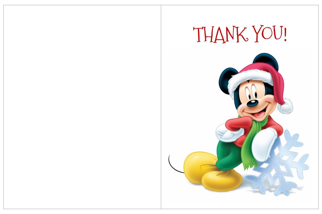 Printable Disney Thank You Cards