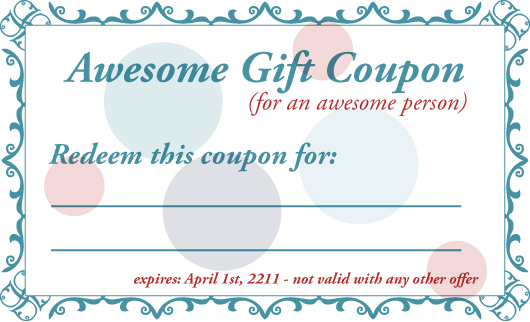 7 best images of printable gift certificates for husband for Coupon book template for husband