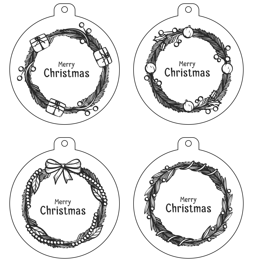 Free Printable Gift Tags Black and White