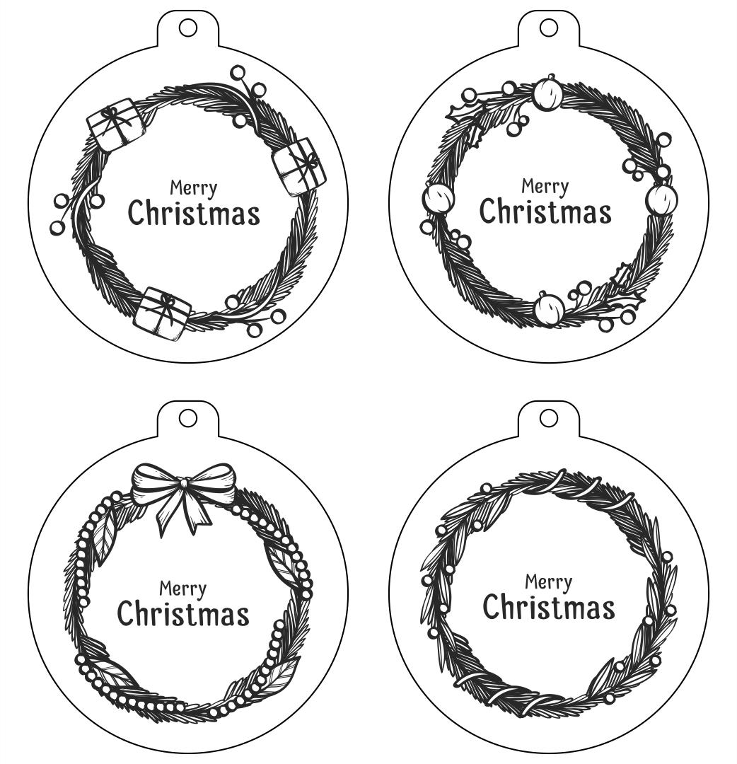 Printable Gift Tags Black and White