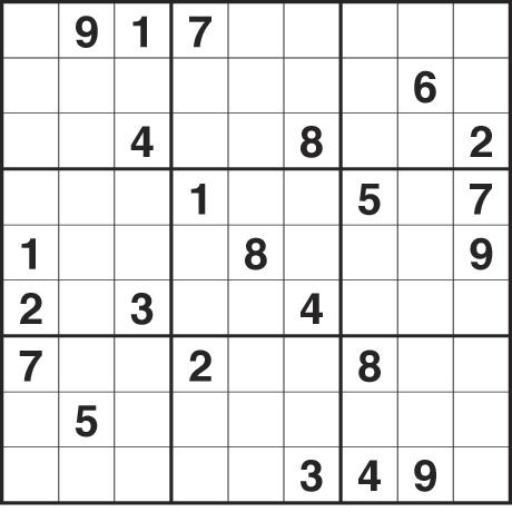 6 Images of Printable Hard Sudoku Page