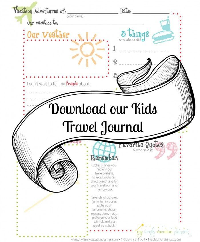 7 Images of Printable Travel Journal Disneyland