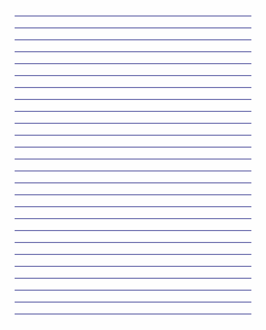 Free Printable Lined Paper to Print