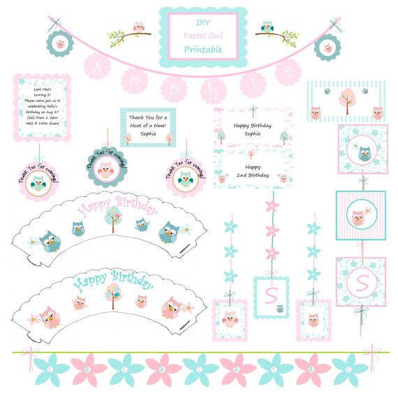 Free Printable Owl Baby Shower Decorations