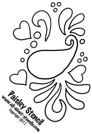 5 Images of Printable Paisley Stencil Designs