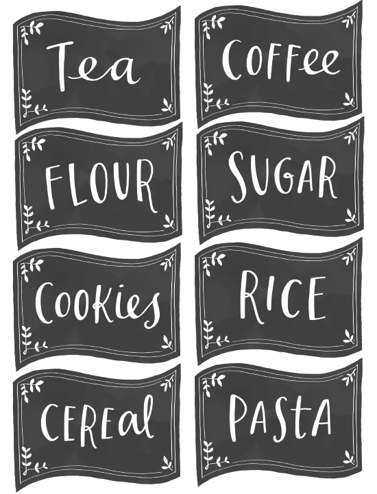 7 best images of free printable chalkboard pantry labels chalkboard pantry labels printable for Chalkboard labels printable