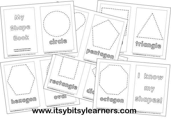 7 Best Images Of I See Shapes Book Printable