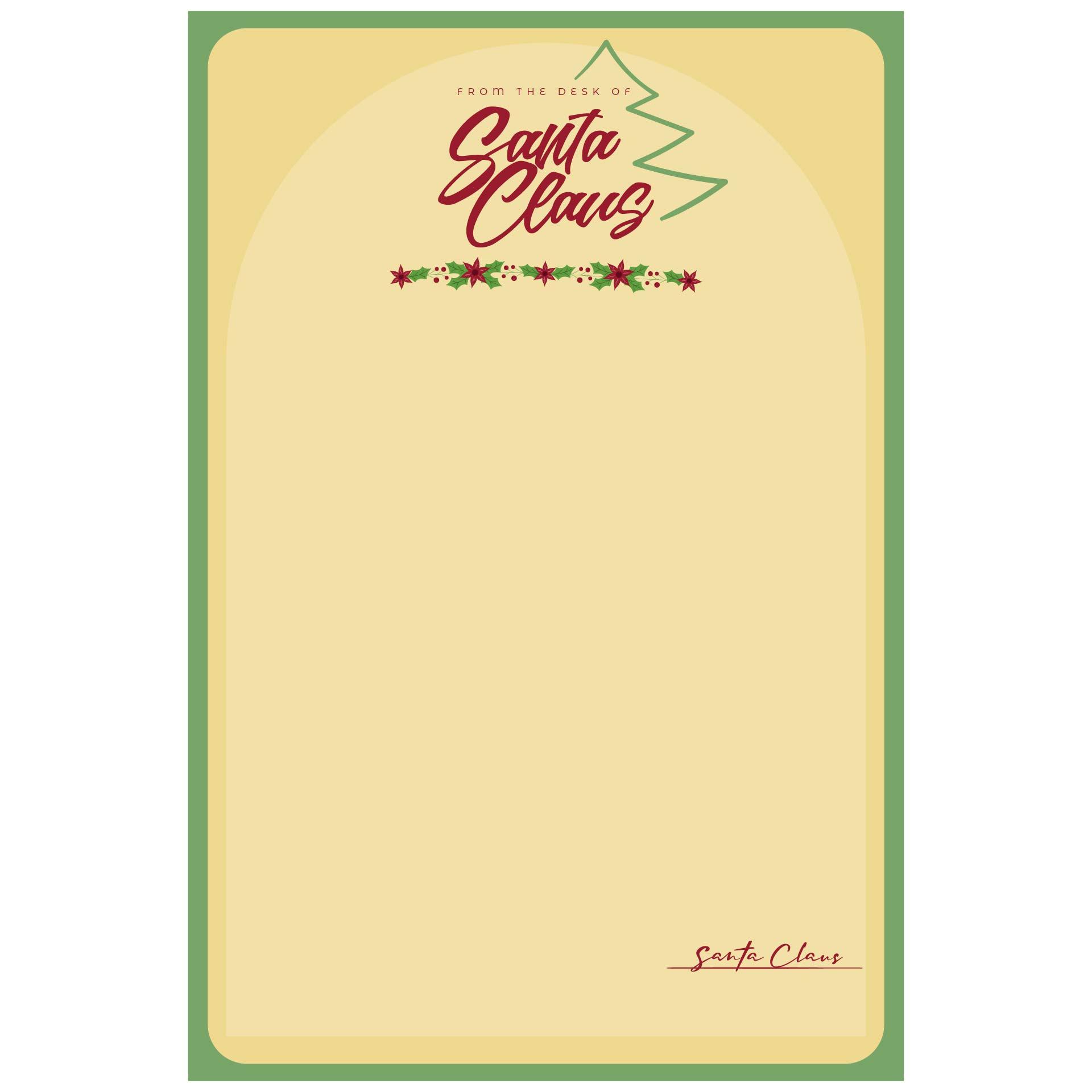 Printable Santa Claus Letterhead Template