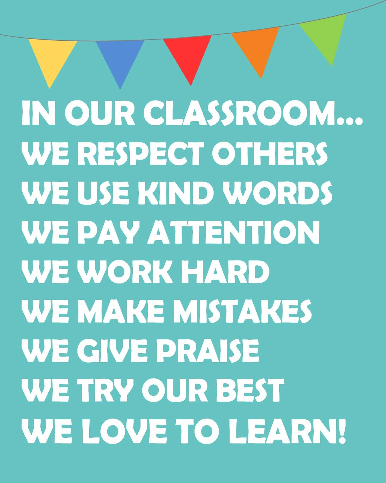6 Images of Classroom Rules Printable