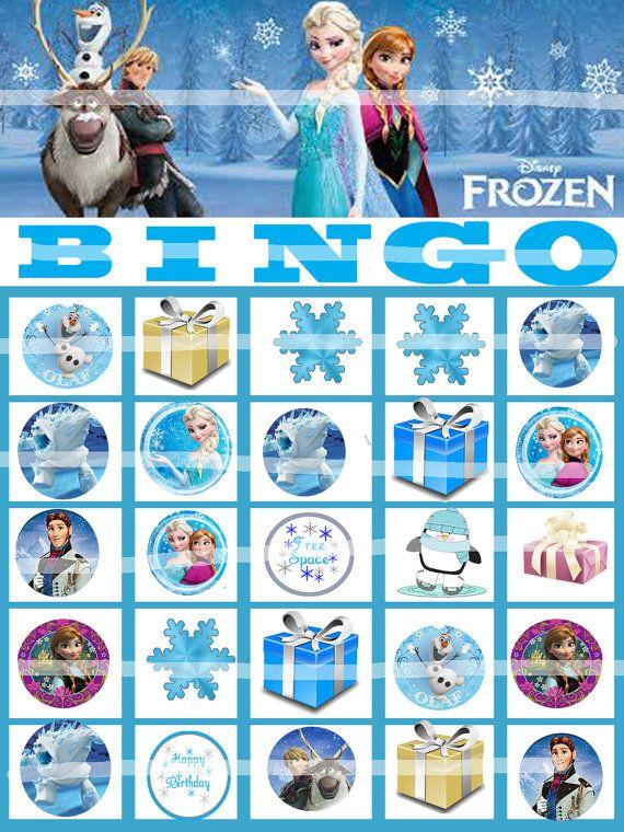 9 Images of Frozen Bingo Printable Cards