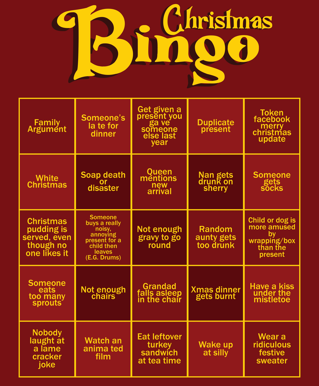5 Best Images Of Office Christmas Bingo Printable