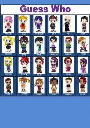 4 Images of Guess Who Replacement Cards Printable