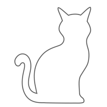 4 Images of Cat Template Printable