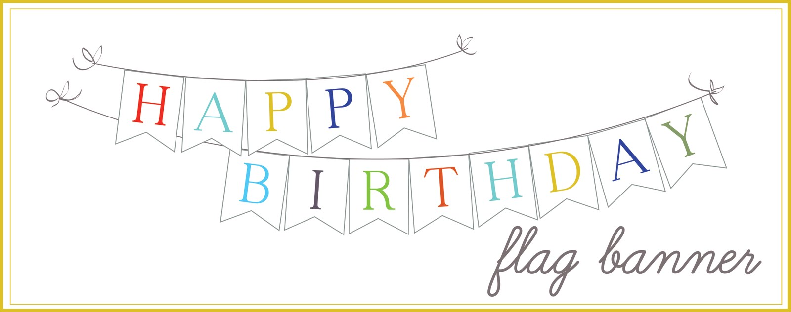 10 Images of Happy Birthday Banners Printable Outline