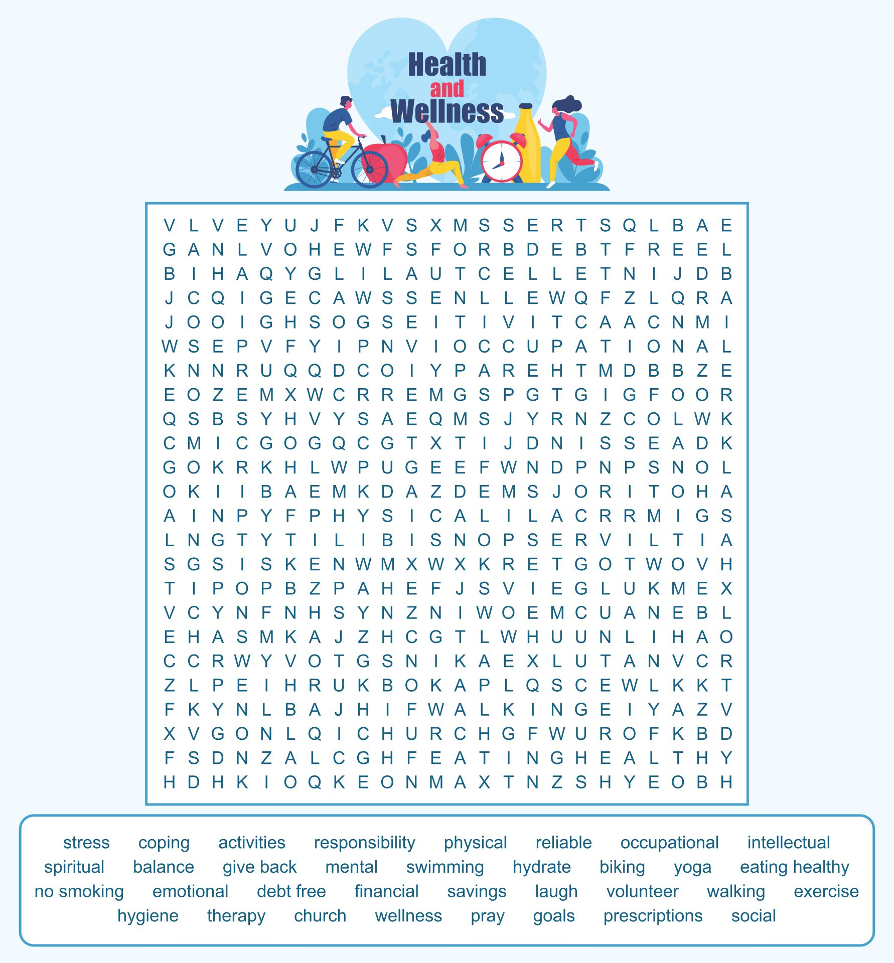 Health Word Search Puzzles