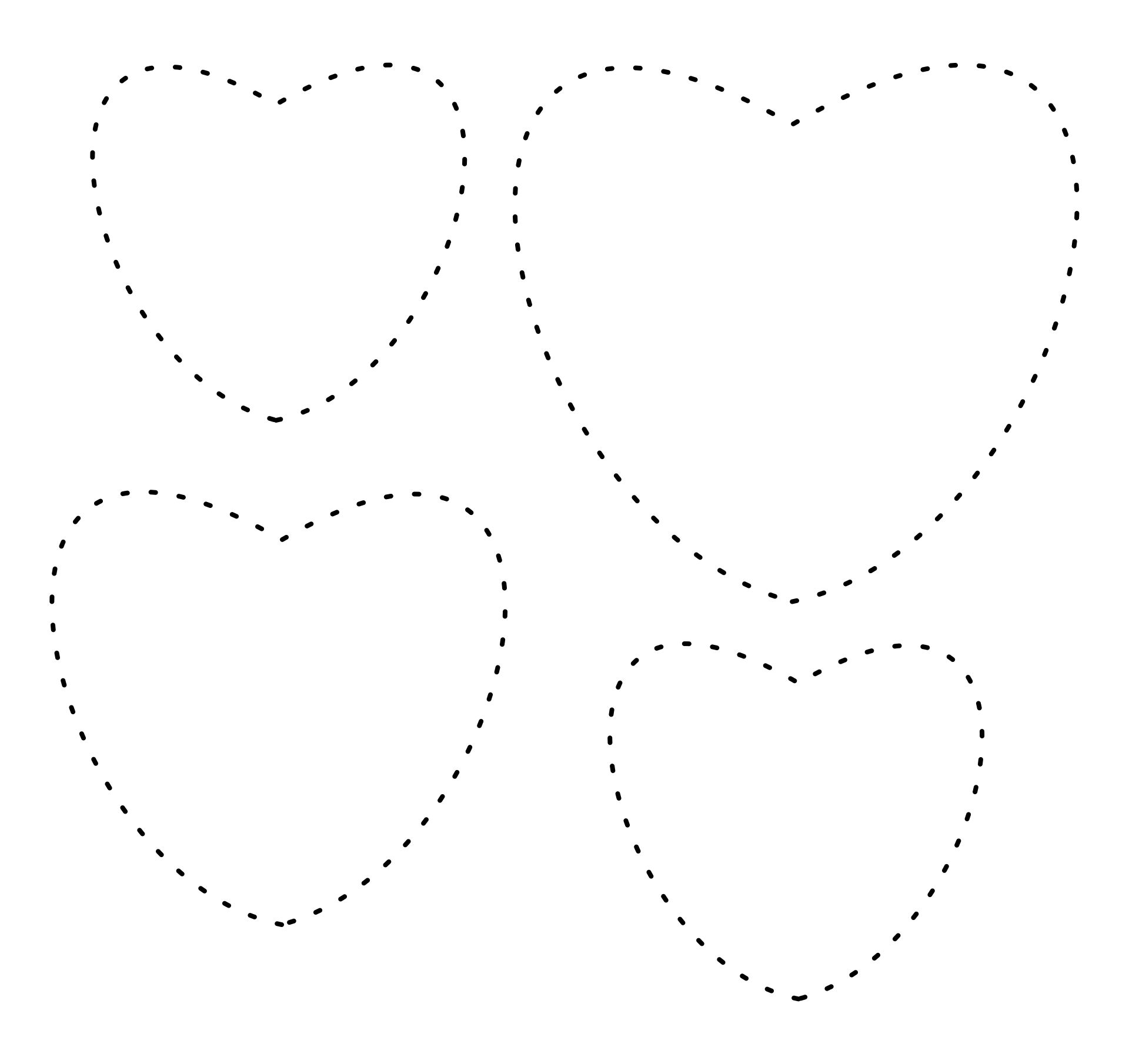 4 Best Images of Printable Kids Tracing Page - Heart ...