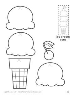 5 Images of Ice Cream Printables Cutouts